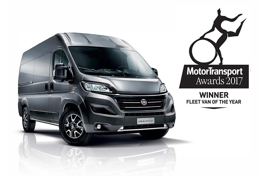 Ducato imenovan za »dostavno vozilo leta 2017« v Veliki Britaniji